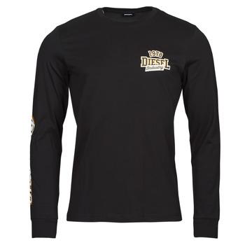 Υφασμάτινα Άνδρας Μπλουζάκια με μακριά μανίκια Diesel T-DIEGOS-LS-K27 Black