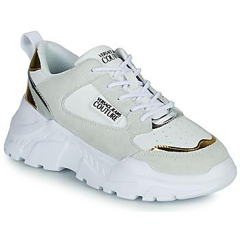 Παπούτσια Γυναίκα Χαμηλά Sneakers Versace Jeans Couture FREMMI Άσπρο / Dore / Argenté