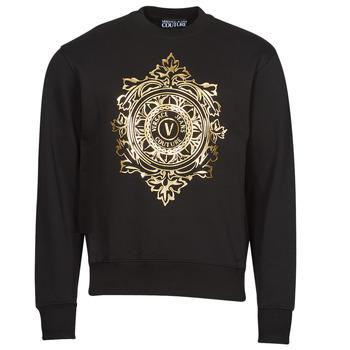 Υφασμάτινα Άνδρας Φούτερ Versace Jeans Couture VEMBLEM LEAF Black / Gold