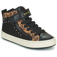 Παπούτσια Κορίτσι Ψηλά Sneakers Geox KALISPERA Black / Leopard