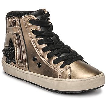 Παπούτσια Κορίτσι Ψηλά Sneakers Geox KALISPERA Gold / Black