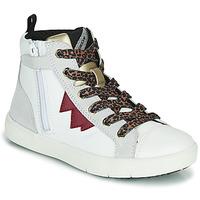 Παπούτσια Κορίτσι Ψηλά Sneakers Geox SILENEX Άσπρο