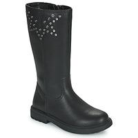 Παπούτσια Κορίτσι Μπότες για την πόλη Geox ECLAIR Black