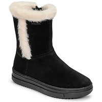 Παπούτσια Κορίτσι Μπότες για την πόλη Geox REBECCA Black / Άσπρο