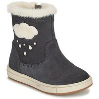 Παπούτσια Κορίτσι Μπότες για την πόλη Geox TROTTOLA Black