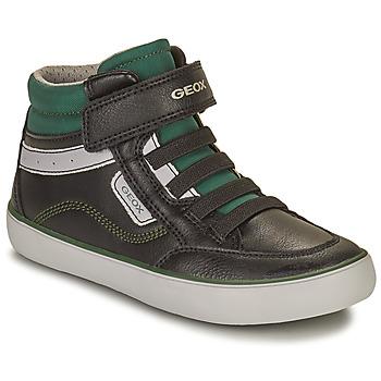 Παπούτσια Αγόρι Ψηλά Sneakers Geox GISL Black / Green