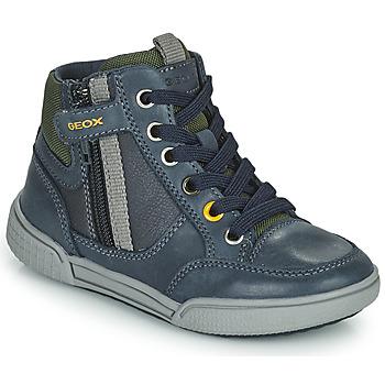 Παπούτσια Αγόρι Ψηλά Sneakers Geox POSEIDO Marine / Green