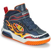 Παπούτσια Αγόρι Ψηλά Sneakers Geox INEK Marine / Red