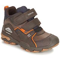Παπούτσια Αγόρι Μπότες Geox BULLER ABX Brown