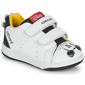 Παπούτσια Αγόρι Χαμηλά Sneakers Geox NEW FLICK Άσπρο / Black / Red