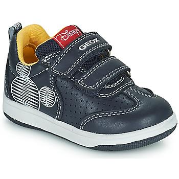 Xαμηλά Sneakers Geox NEW FLICK ΕΠΕΝΔΥΣΗ: Συνθετικό και ύφασμα & ΕΞ. ΣΟΛΑ: Καουτσούκ