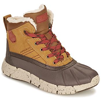 Παπούτσια Αγόρι Μπότες Geox FLEXYPER ABX Brown