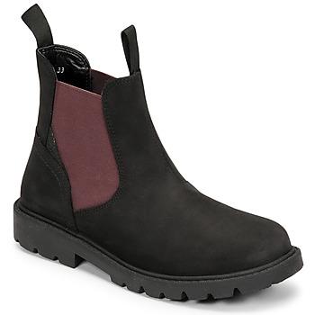Παπούτσια Αγόρι Μπότες Geox SHAYLAX Black / Bordeaux