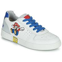 Παπούτσια Αγόρι Χαμηλά Sneakers Geox DJROCK Άσπρο / Μπλέ
