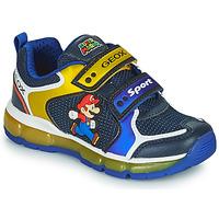 Παπούτσια Αγόρι Χαμηλά Sneakers Geox ANDROID Μπλέ / Yellow