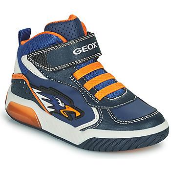 Παπούτσια Αγόρι Ψηλά Sneakers Geox INEK Marine / Orange