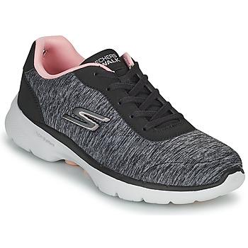 Παπούτσια Γυναίκα Χαμηλά Sneakers Skechers GO WALK 6 Grey / Ροζ