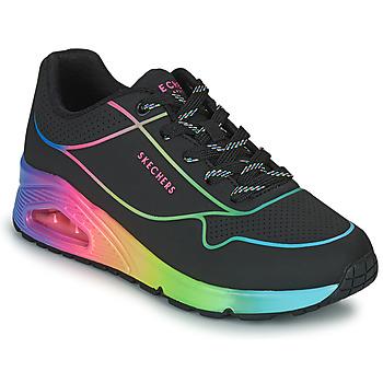 Παπούτσια Γυναίκα Χαμηλά Sneakers Skechers UNO Black / Multicolour