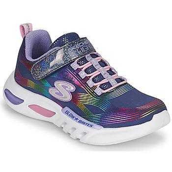 Παπούτσια Κορίτσι Χαμηλά Sneakers Skechers GLOW-BRITES Marine / Led
