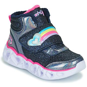Παπούτσια Κορίτσι Ψηλά Sneakers Skechers HEART LIGHTS Marine / Led