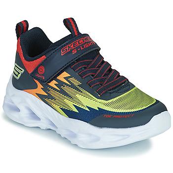 Παπούτσια Αγόρι Χαμηλά Sneakers Skechers VORTEX-FLASH Μπλέ / Orange
