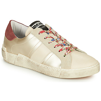 Παπούτσια Γυναίκα Χαμηλά Sneakers Meline NKC1381 Άσπρο / Fleurs