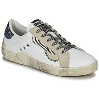 Παπούτσια Γυναίκα Χαμηλά Sneakers Meline NK139 Άσπρο / Glitter / Μπλέ