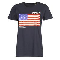 Υφασμάτινα T-shirt με κοντά μανίκια Yurban ONASA Marine