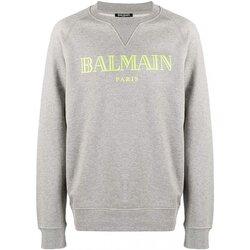 Υφασμάτινα Άνδρας Φούτερ Balmain SH13279 Grey