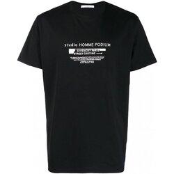 Υφασμάτινα Άνδρας T-shirt με κοντά μανίκια Givenchy BM70SC3002 Black