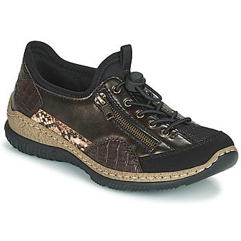 Παπούτσια Γυναίκα Χαμηλά Sneakers Rieker ALINDA Bronze / Black