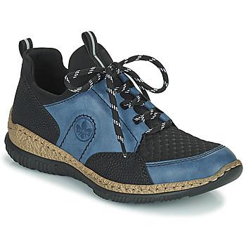Παπούτσια Γυναίκα Χαμηλά Sneakers Rieker MEDONNA Μπλέ / Black