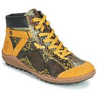 Παπούτσια Γυναίκα Μπότες Rieker LONGTER Yellow / Black