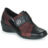 Παπούτσια Γυναίκα Μοκασσίνια Rieker HANTAR Black / Bordeaux