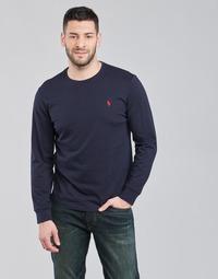 Υφασμάτινα Άνδρας Μπλουζάκια με μακριά μανίκια Polo Ralph Lauren DRENNI Marine