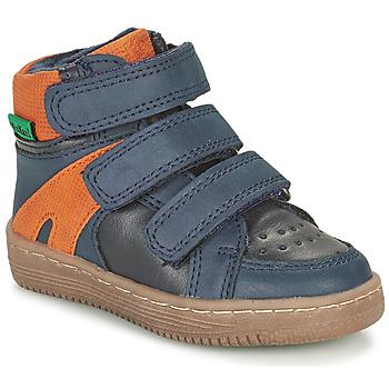 Παπούτσια Αγόρι Μπότες Kickers LOGGAN Marine / Orange
