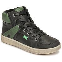 Παπούτσια Αγόρι Ψηλά Sneakers Kickers LOWELL Black / Green