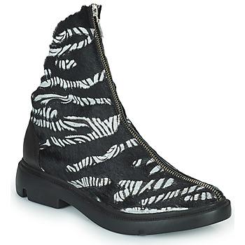 Παπούτσια Γυναίκα Μπότες Papucei KAEL Black / Άσπρο