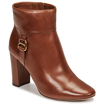 Παπούτσια Γυναίκα Μποτίνια Lauren Ralph Lauren MCKAY Cognac