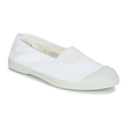 Παπούτσια Γυναίκα Χαμηλά Sneakers Bensimon TENNIS ELASTIQUE Άσπρο
