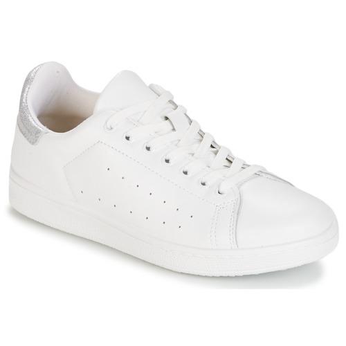 Παπούτσια Γυναίκα Χαμηλά Sneakers Yurban SATURNA Άσπρο / Argenté