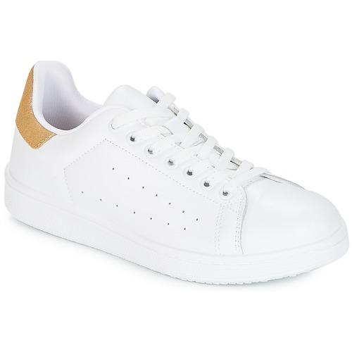 Παπούτσια Γυναίκα Χαμηλά Sneakers Yurban SATURNA Άσπρο / Gold