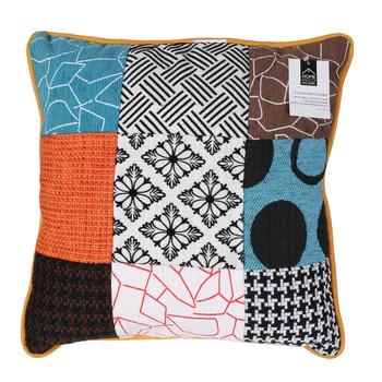 Σπίτι Μαξιλάρια The home deco factory PATCHWORK Άσπρο / Black / Orange / Turquoise / Brown