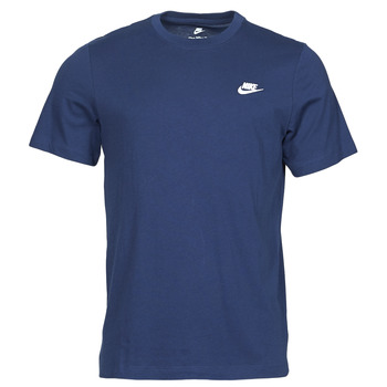Υφασμάτινα Άνδρας T-shirt με κοντά μανίκια Nike NIKE SPORTSWEAR CLUB Μπλέ / Άσπρο