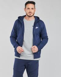 Υφασμάτινα Άνδρας Φούτερ Nike NIKE SPORTSWEAR CLUB FLEECE Μπλέ / Marine / Άσπρο