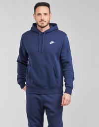 Υφασμάτινα Άνδρας Φούτερ Nike NIKE SPORTSWEAR CLUB FLEECE Marine / Άσπρο