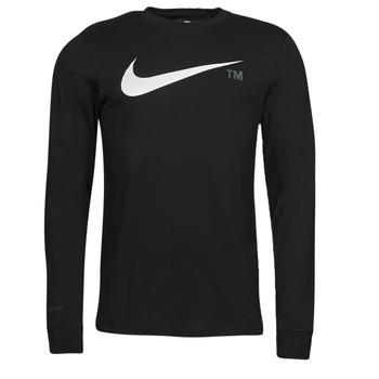 Υφασμάτινα Άνδρας Μπλουζάκια με μακριά μανίκια Nike M NSW TEE LS GRX TEE Black