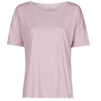 Υφασμάτινα Γυναίκα T-shirt με κοντά μανίκια Nike NIKE YOGA Violet