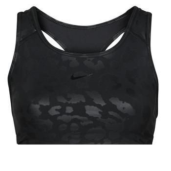 Υφασμάτινα Γυναίκα Αθλητικά μπουστάκια  Nike W NP DF SWSH LEPARD SHINE BRA Black