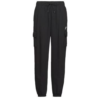 Υφασμάτινα Γυναίκα Φόρμες Nike W NSW ESSNTL FLC MR CRGO PNT Black / Άσπρο
